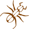 Ant Outline Brown Clip Art