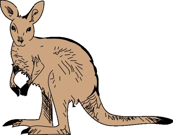Standing Kangaroo Clip Art at Clker.com - vector clip art ...