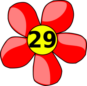 Counting Flower Clip Art