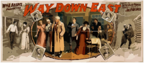 Wm. A. Brady S Production Of Way Down East Written By Lottie Blair Parker ; Elaborated And Produced By Jos. R. Grismer. Clip Art