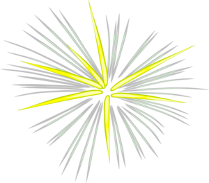 Gray Yellow Fireworks Clip Art