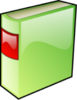 Green Hard Covered Book Clip Art