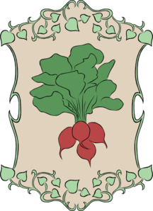 Garden Sign Radish Clip Art