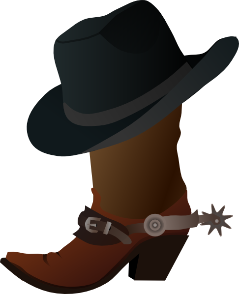 Clip Art Cowboy Hat Clip Art cowboy boot and hat clip art at clker com vector online download this image as