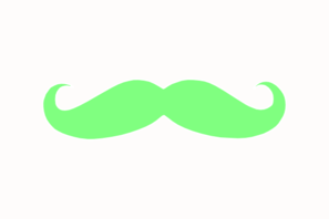 Green Stache Clip Art