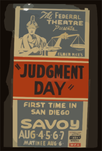 The Federal Theatre Presents Elmer Rice S  Judgement Day  First Time In San Diego. Clip Art