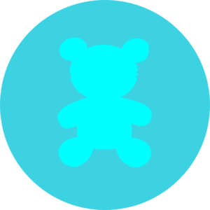 Bear In Circle Blue Clip Art