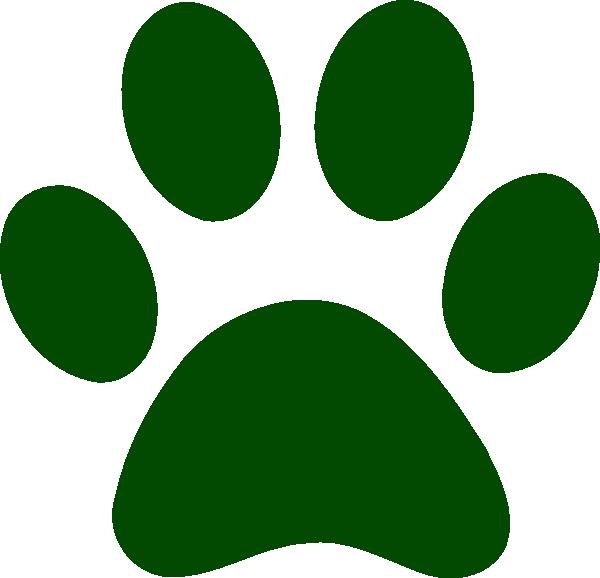 Forest Green Paw Print Clip Art at Clker.com - vector clip art online ...