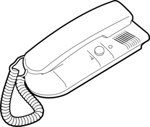 Outline Telephone Clip Art