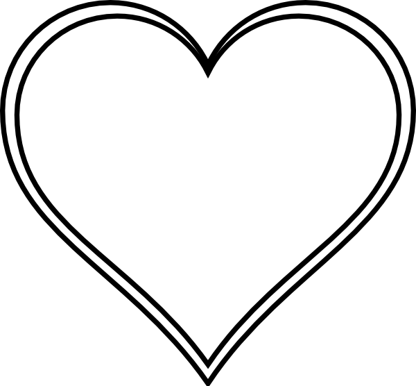 Line Art Love Heart : Double outline heart clip art at clker vector