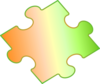 Small Gradient Puzzle Piece Clip Art