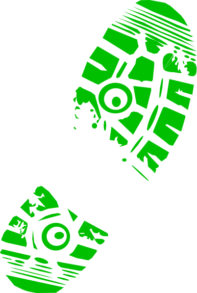 green running shoe print clip art at clker com vector clip art rh clker com