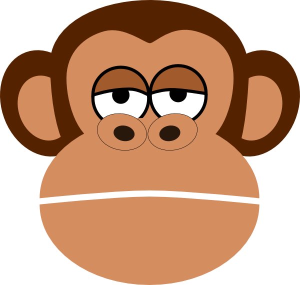 Monkey Cartoon Face Clip Art at Clker.com vector clip art online ...