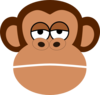 Monkey Cartoon Face Clip Art