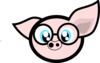 Pig With Glasses Clip Art