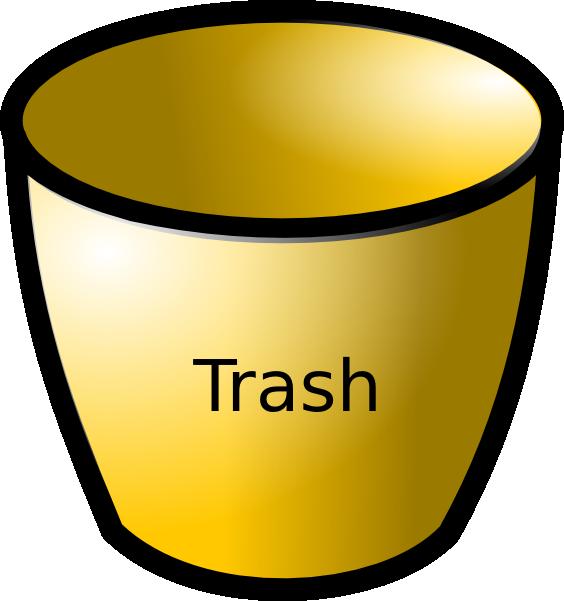 Trash Can Clip Art at Clker.com - vector clip art online ...