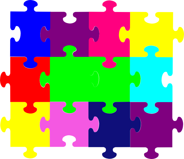 Jigsaw Puzzle Clip Art At Clker