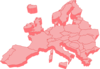 Map Of Europe 3d Clip Art