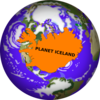 Iceland World Clip Art