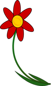 Bent Flower Clip Art