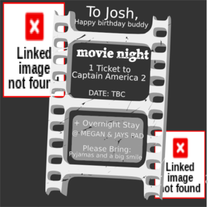 Movie Ticket Birthday 2 Clip Art