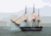 Uss Constitution Fires Its Starboard Guns. Clip Art