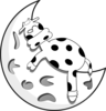 Cow Sleeping On The Moon Clip Art