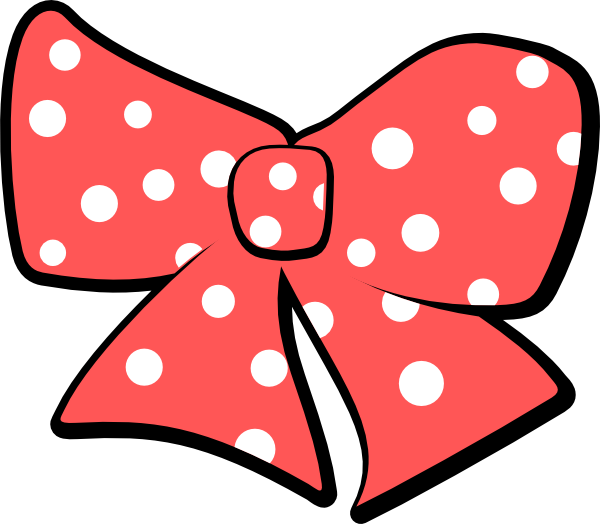 Bow With Polka Dots Clip Art at Clker.com - vector clip ...