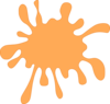 Splashy Orange  Clip Art