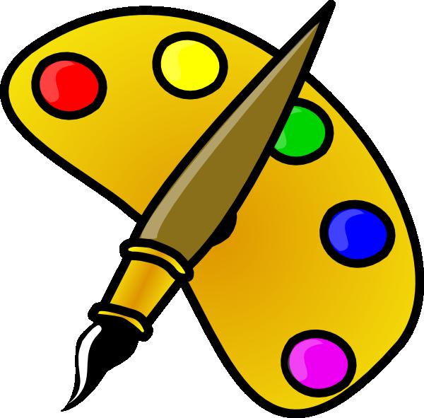artist pallet clip art at clker com vector clip art online rh clker com clipart art clipart art lesson