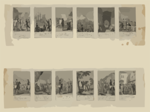 [scenes From Events And Battles Leading Up To And During The American Revolution, 1775-1783, As Depicted In 12 Illustrations]  / D. Chodowiecki Inv. Et Del. ; D. Berger Sculpsit 1784. Clip Art