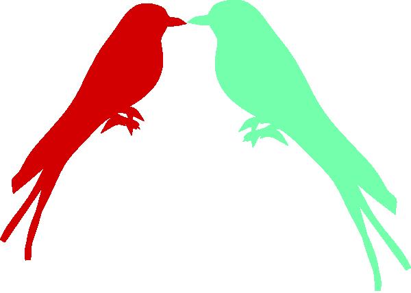 Love Birds On A Branch Clip Art at Clker.com - vector clip ...