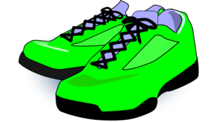Green Tennis Shoes Clip Art