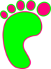 Pink And Green Left Foot Clip Art