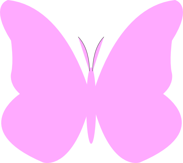 Pink butterfly clipart