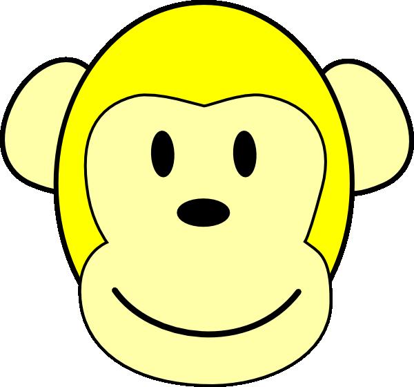 Yellow Monkey clip art - vector clip art online, royalty free & public domain