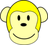 Yellow Monkey Clip Art