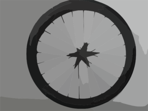 Carbon Bike Wheel Clip Art