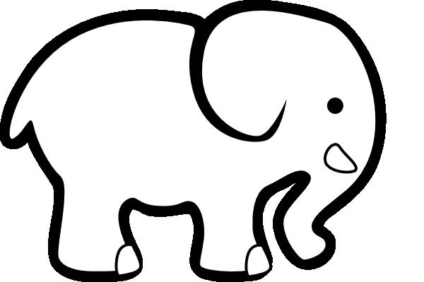 white elephant clip art clip art at clker com vector clip art rh clker com elephant clipart baby shower elephant clipart for kids