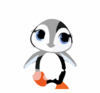 Illustration Of A Cute Baby Penguin With Snowflakes Clip Art