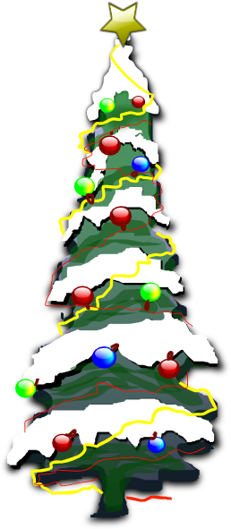 Decorated Christmas Tree With Snow Clip Art at Clker.com - vector clip ...