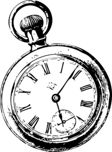 Pocket Watch Sketch Clip Art