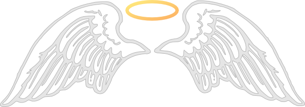 free angel wings with halo clip art - photo #24