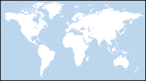 Light Blue World Map Clip Art