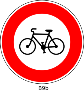 Bicyclist Sign Clip Art