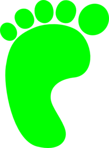 Green Left Foot Clip Art