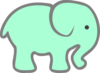 Green Baby Elephant Clip Art