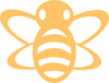 Orange Bee Clip Art