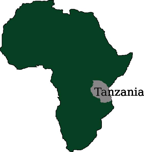 Tanzania Map Clip Art at Clker.com - vector clip art online, royalty ...
