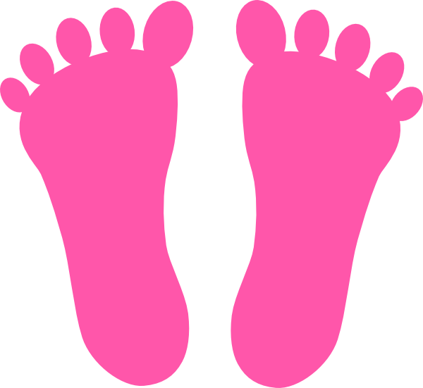 pink footprints clip art at clker com vector clip art footprint clip art pattern footprint clipart black and white